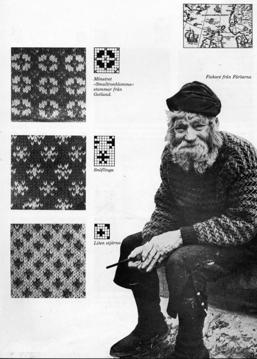 TRADITIONAL FAROESE KNITTING PATTERNS. I.a. used in fishermen sweaters.