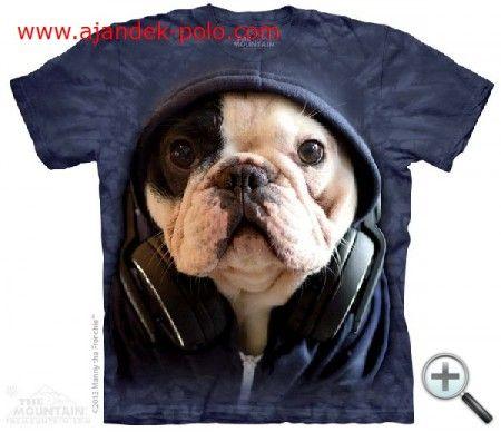 DJ. FRANCIA BULLDOG KÖLYÖK kutya gyermek, női, férfi felnőtt Mountain póló.
