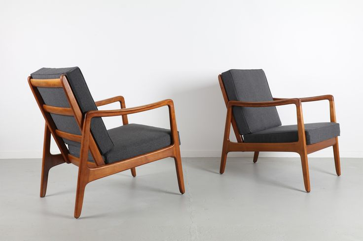 PAIR OF OLE WANSCHER 'MODEL 109' ARMCHAIRS  / Mr. Bigglesworthy - Mid Century Modern and Designer Retro Furniture