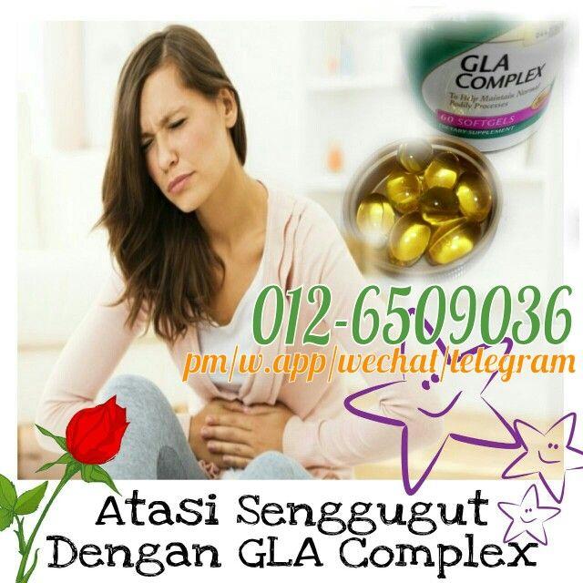 Senggugut..?? Hilangkannya dengan mengambil GLA Complex ni.. sangat berkesan serta banyak keistimewaannya.. GLA Complex, teman baik setiap wanita..