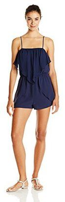 BCBGeneration Women's Ruffle Romper - Shop for women's Romper - Deep Blue Romper