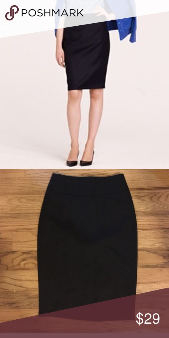 J. Crew Black Pencil Skirt Classic black pencil skirt from J. Crew. Barely worn, in perfect condition. J. Crew Skirts Pencil