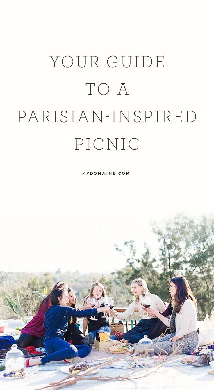 Parisian-inspired picnic.