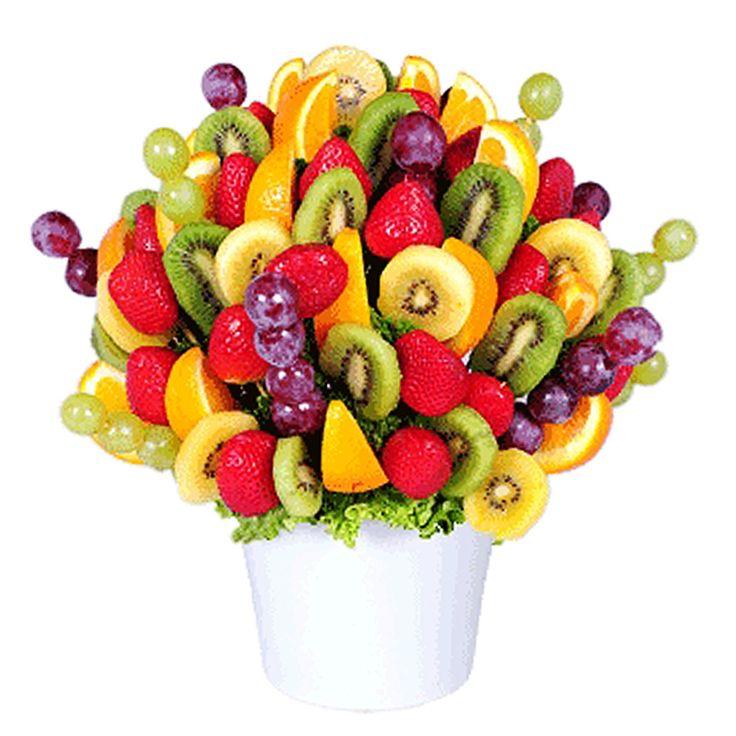 Открытка букет из фруктов