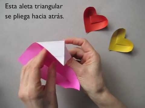 heart-shaped origami dishes! great video tutorial. made it on my first try!