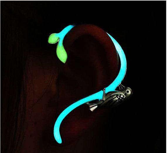 Ear Cuff Glow in the Dark Earcuff Halloween by UptownGirlFashion