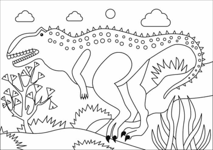 19+ Among us dinosaur coloring page HD
