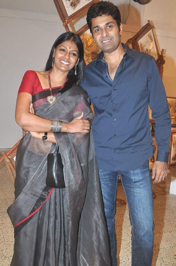 Actress Nandita Das with Husband Subodh Maskara