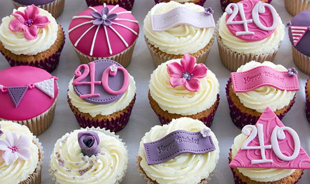 25+ Best Ideas About 40th Birthday Cupcakes On Pinterest