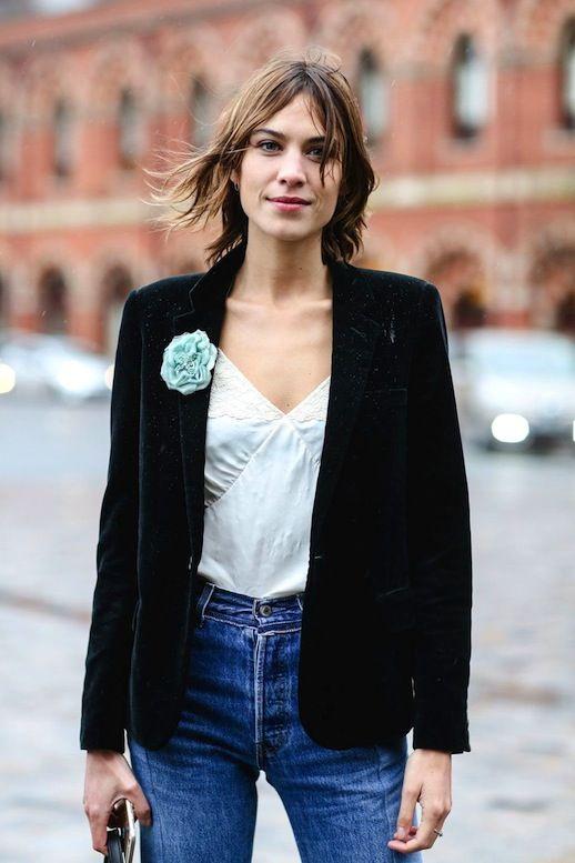 Alexa Chung Makes A Chic Case For A Velvet Blazer