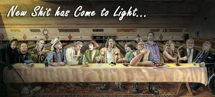 the big lebowski last supper poster