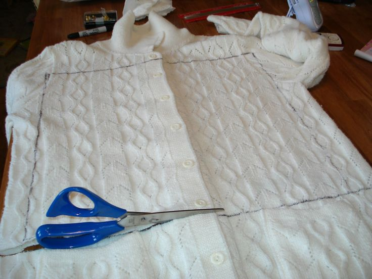 Make a pillow out of an old sweater
