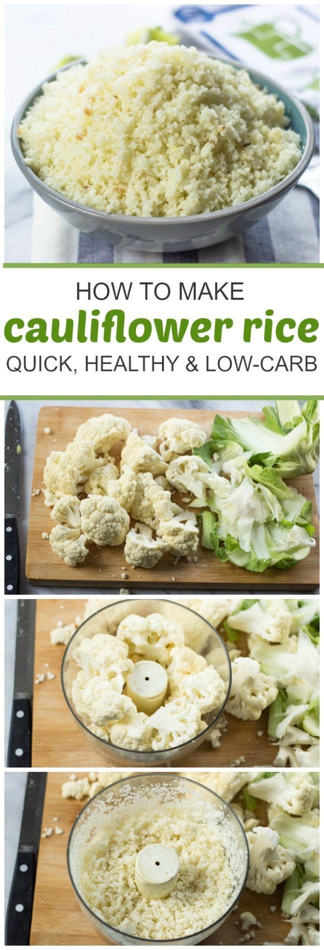 How To Make Cauliflower Rice (Fast, Wholesome, Low-Carb, Paleo). *** See more at the image link