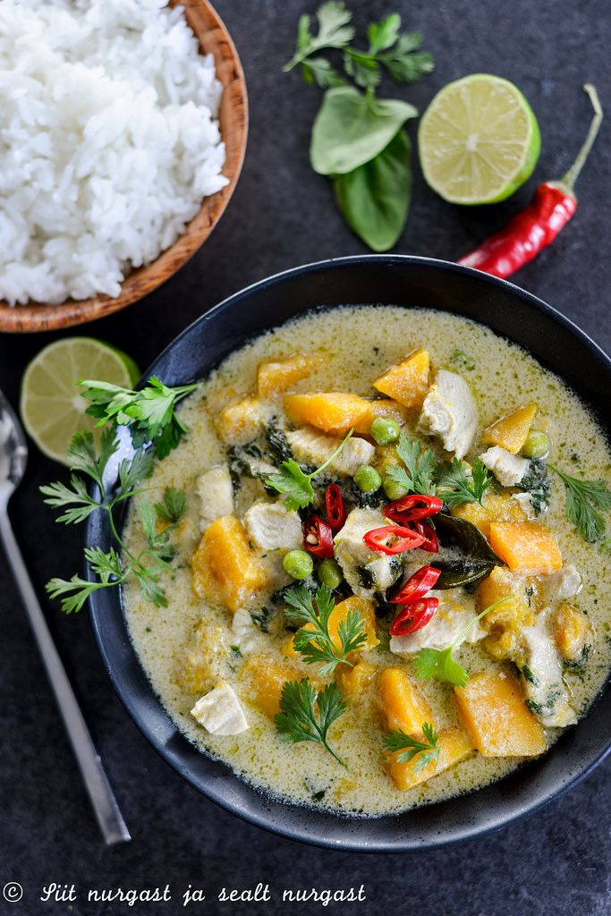 Chicken and pumpkin curry/Kana-kõrvitsakarri