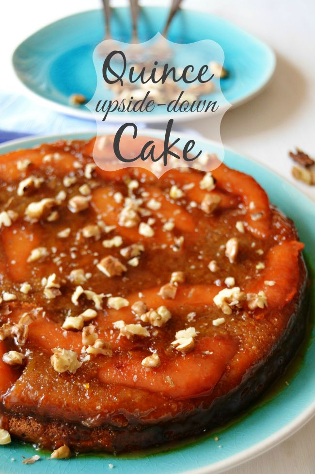 Sticky Quince Upside-Down Cake