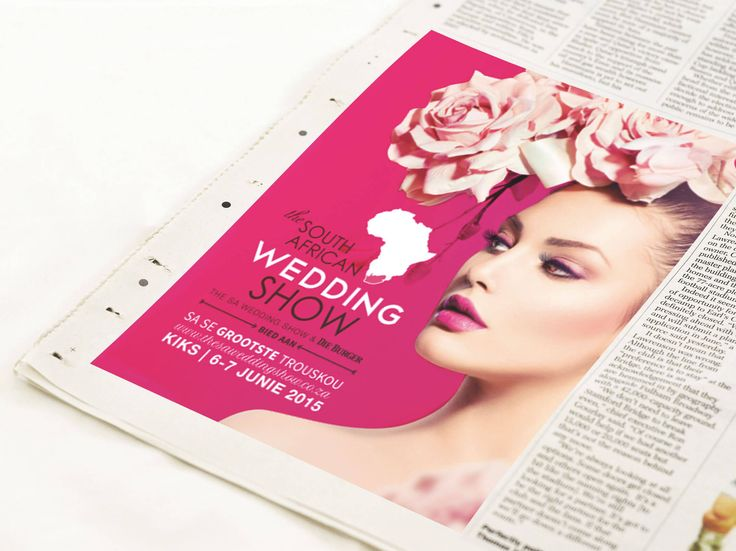 Newspaper advert design for The South African Wedding Show by Pink Pigeon Graphic Design © www.pinkpigeon.co.za
