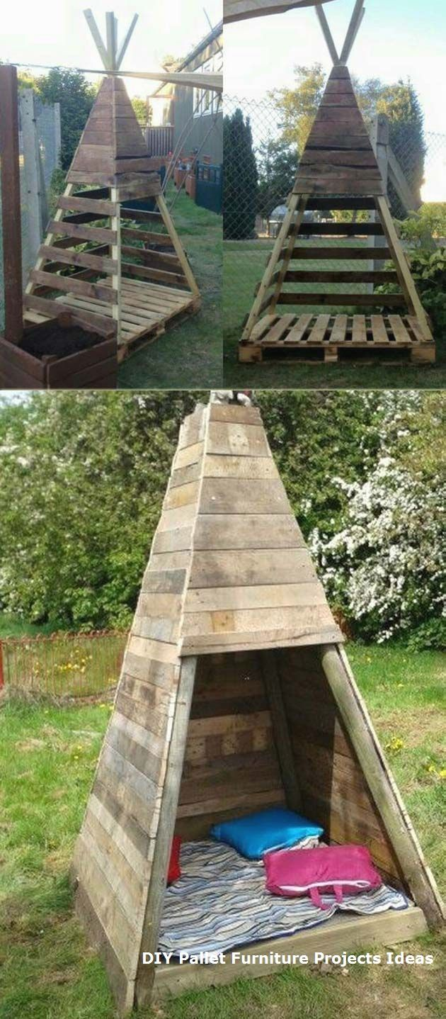 17 Cute Upcycled Pallet Projects for Kids Outdoor…