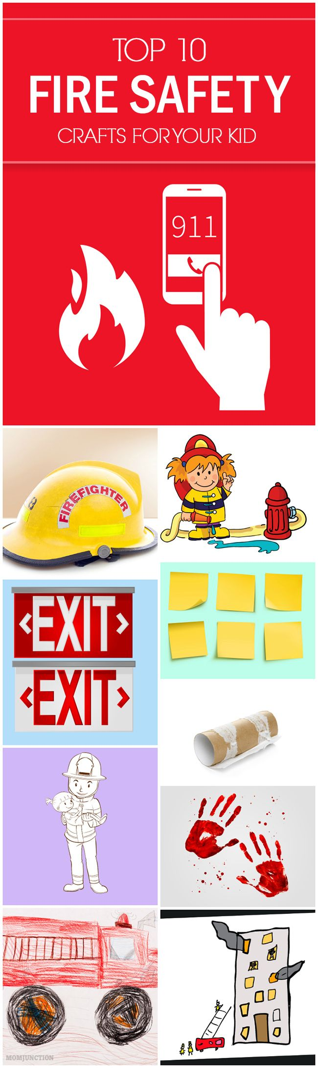 Fire Safety Crafts For Kids: the article on fire safety crafts will be just perfect for you. Read on to know about some interesting #craft projects for your child to learn more about fire safety.