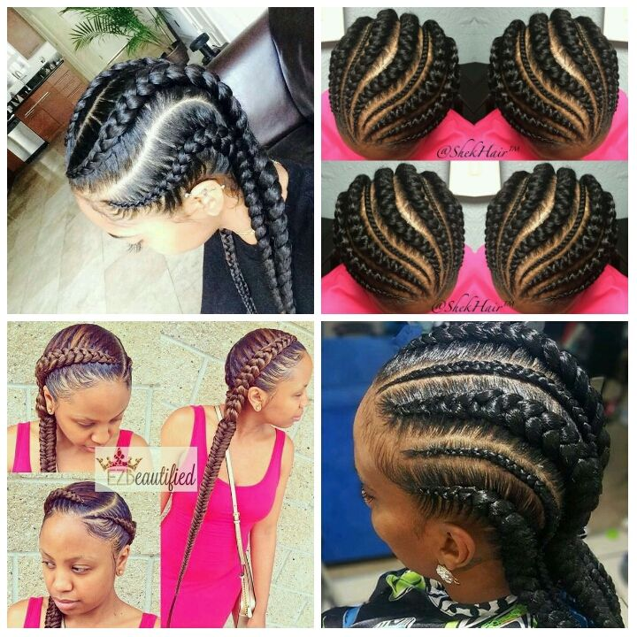 Deux tresses coll es africaine - Nattes collees modeles ...