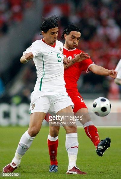BASEL, SWITZERLAND - JUNE 15: Fernando Meira of Portugal (left)... #meira: BASEL, SWITZERLAND - JUNE 15: Fernando Meira of Portugal… #meira