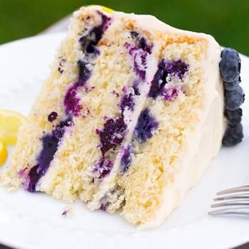 Lemon Blueberry Cake......If I make this, I'm cheating and starting with a mix!   Looks delish and beautiful!