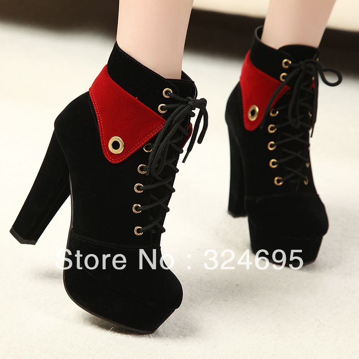 Princess fashion punk thick heel boots winter thermal comfortable boots thick heel martin boots