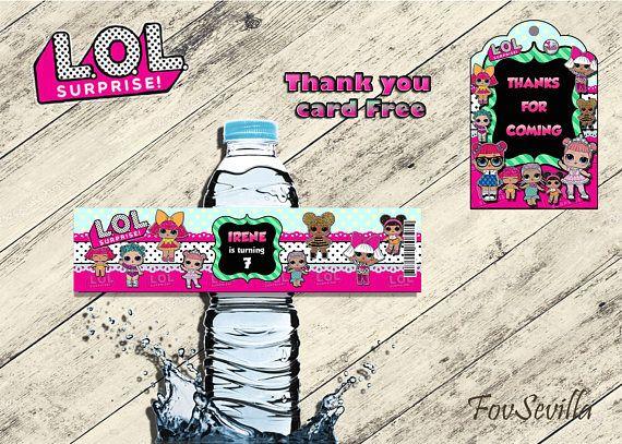 ✦ Comprando este producto obtendrá 5 etiquetas para botellas digitales en formato jpg o pdf de lol surprise ✦ El tamaño estándar de las etiquetas para las botellas es: 5x20 centímetros. ✦Tenga en cuenta que si usted compra este producto obtendrá etiquetas para botellas para imprimir