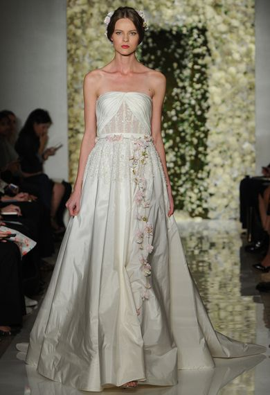 Love this romantic Reem Acra gown