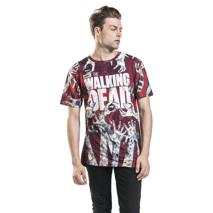 "Classica T-Shirt uomo ""Walkers Hand"" della serie televisiva #TheWalkingDead."