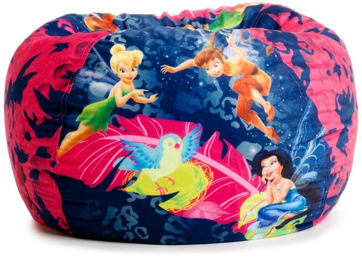 Disney Fairies Who Needs Pixie Dust When You Have A Relaxing Bean Bag With All Your Favorite On It Tinkerbell Fawn And Silvermist Are Waiting For