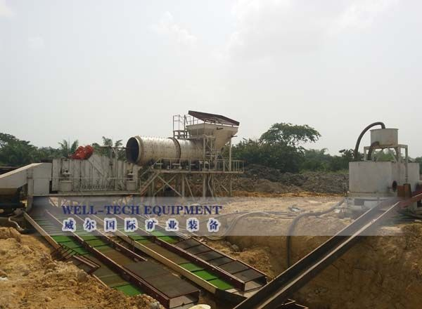 Placer Gold Ore Sluice Production Line-Well-tech International Mining Equipment