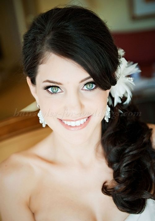 ponytail wedding hairstyles - side ponytail wedding hairstyle ...