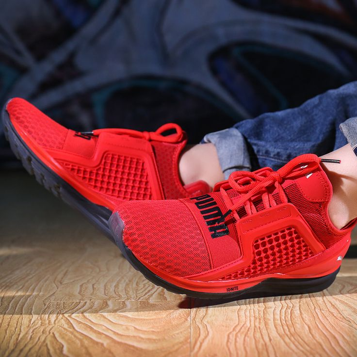 PUMA IGNITE LIMITLESS NERO SNEAKERS189495 BEIGE BLACK RED
