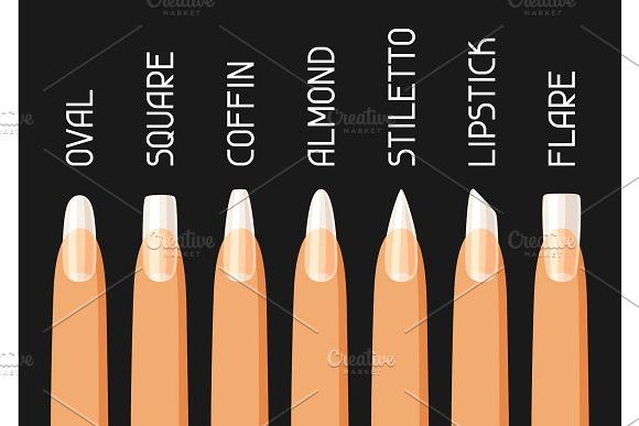 Acrylic Nail Shapes Set Acrylic Nail Shapes Acrylic Nails Kids Nail Designs