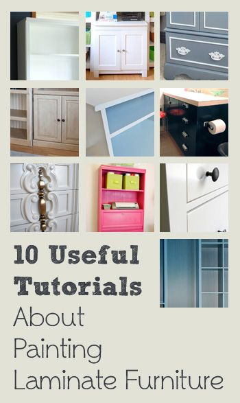 10 Useful Tutorials About Painting Laminate Furniture