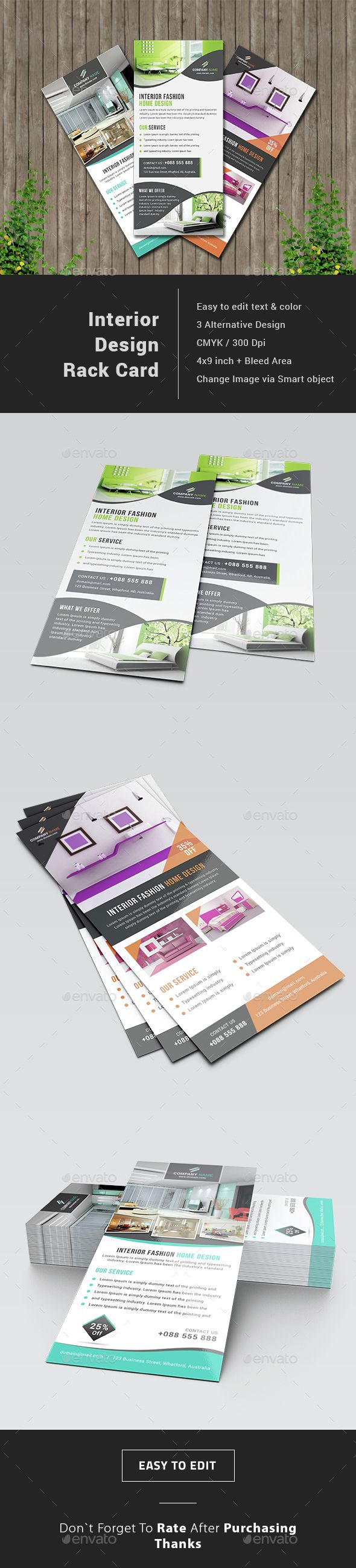 Interior Design Rack Card Template PSD. Download here…