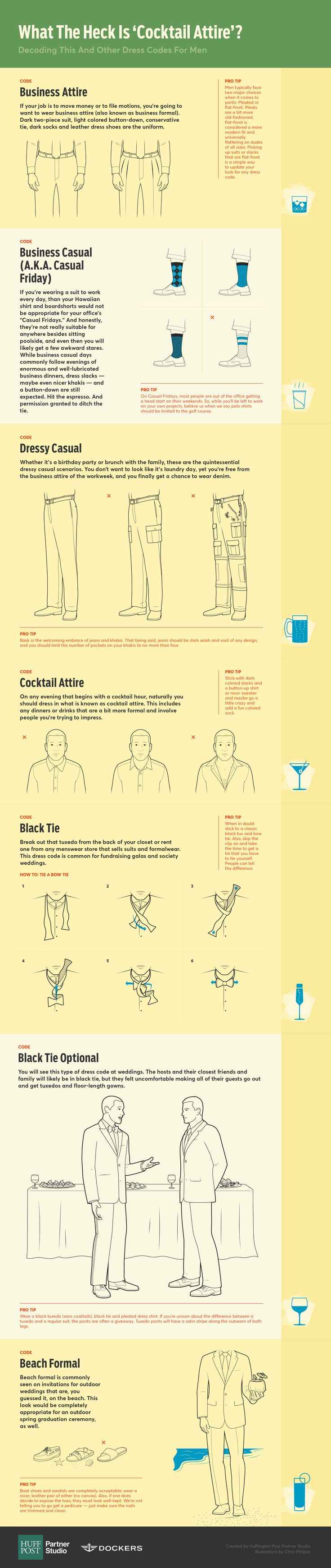 What The Heck Is 'Cocktail Attire? Decoding This And Other Dress Codes For Men