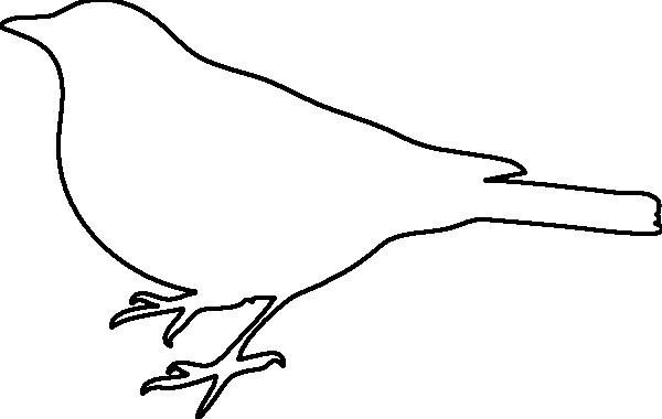 Раскраски Контуры птиц птица контур для вырезки из бумаги, шаблон