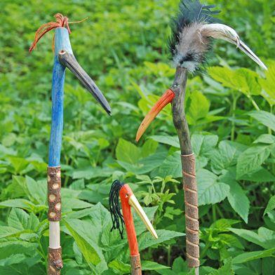 Fågelpinnar av kvistar