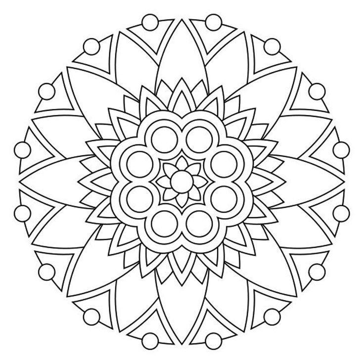Mandala Coloring Geometric And Abstract This Is A Modern Mandala