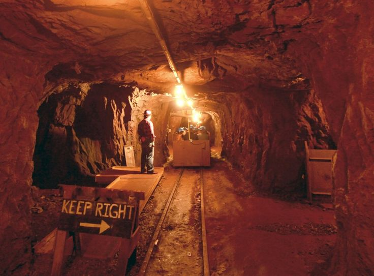 A train brings visitors 3/4 mile into a tunnel at Soudan Underground Mine State Park in northern Minnesota.