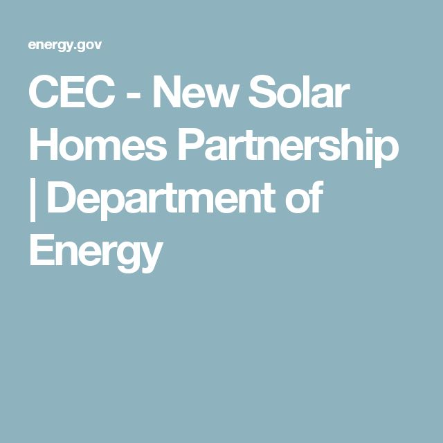 CEC - New Solar Homes Partnership | Department of Energy