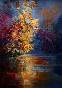 "Saatchi Online Artist Justyna Kopania; Unknown, ""Mist - River - Autumn"" #art"
