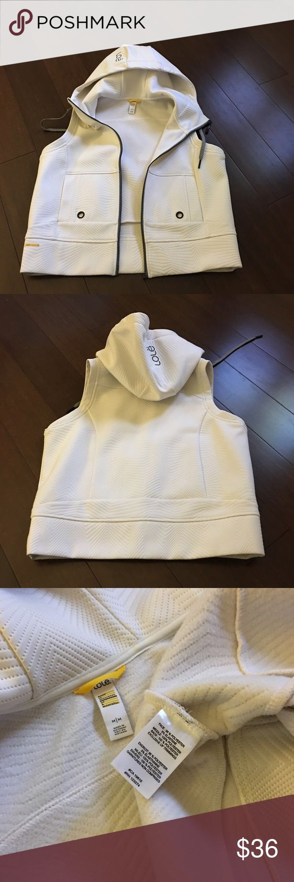 Hood thick vest All most new , fitted run sm Lole Jackets & Coats Vests