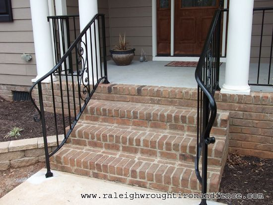 Wrought Iron Porch Railings   Wilmington NC custom wrought iron railings Raleigh Wrought Iron Co.