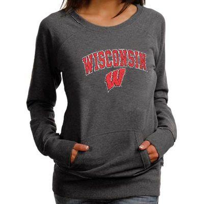 Wisconsin crew neck sweatshirt in red.