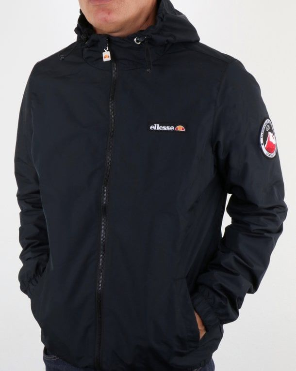 cd6f2bf9d4 Ellesse Terrazzo Jacket Black,hooded,rain,coat,kagoule,mens | What ...