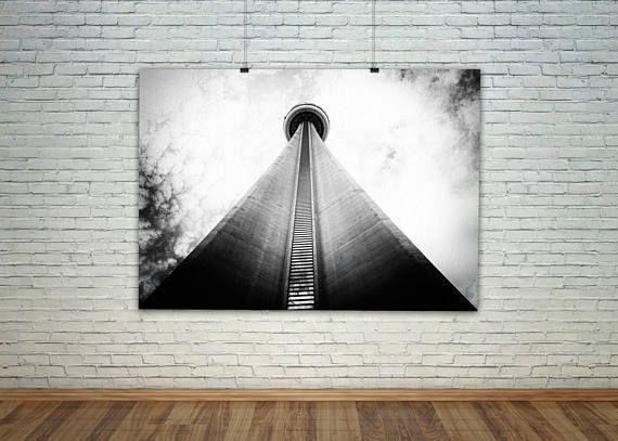 Urban Art, Monochrome Print, Canvas City Print, Toronto Art, Photography