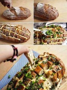Saboroso Gostinho: Passo a passo de pão italiano recheado com queijo