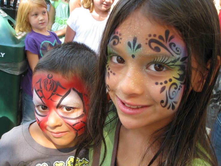 Face painting stencils found at ShowOffs Body Art.